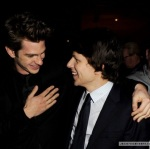 Andrew Garfield and Jesse Eisenberg acting gay