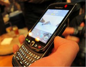 Blackberry flashing light LED