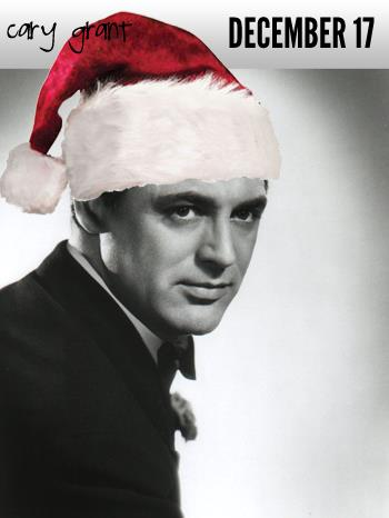 Cary Grant in Santa hat