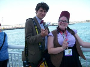 Two Eleventh Doctors, cosplay at Comic-Con 2011
