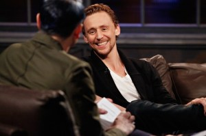 Tom Hiddleston smiling
